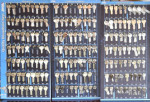 photo of the left three boards of cylinder key blanks